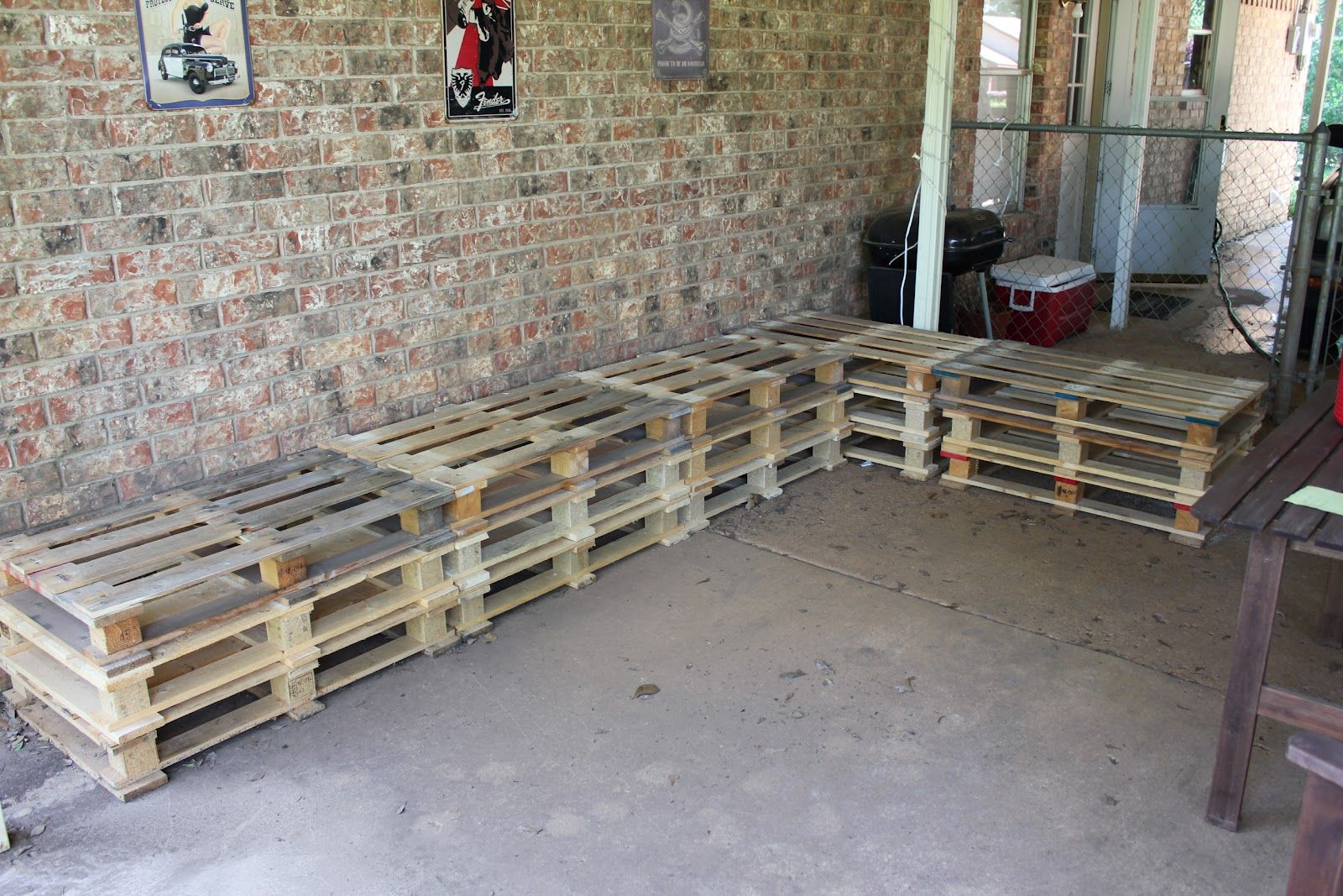 From Made Thing Pallet Furniture Heres all 15 of them stacked