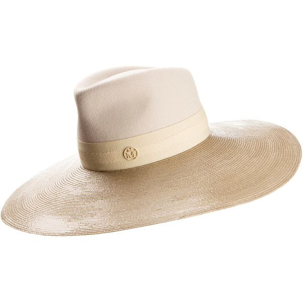 Pina wide-brim straw hat Maison Michel