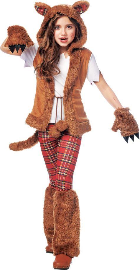 girls howl o ween werewolf costume party city - Popular Tween Halloween Costumes