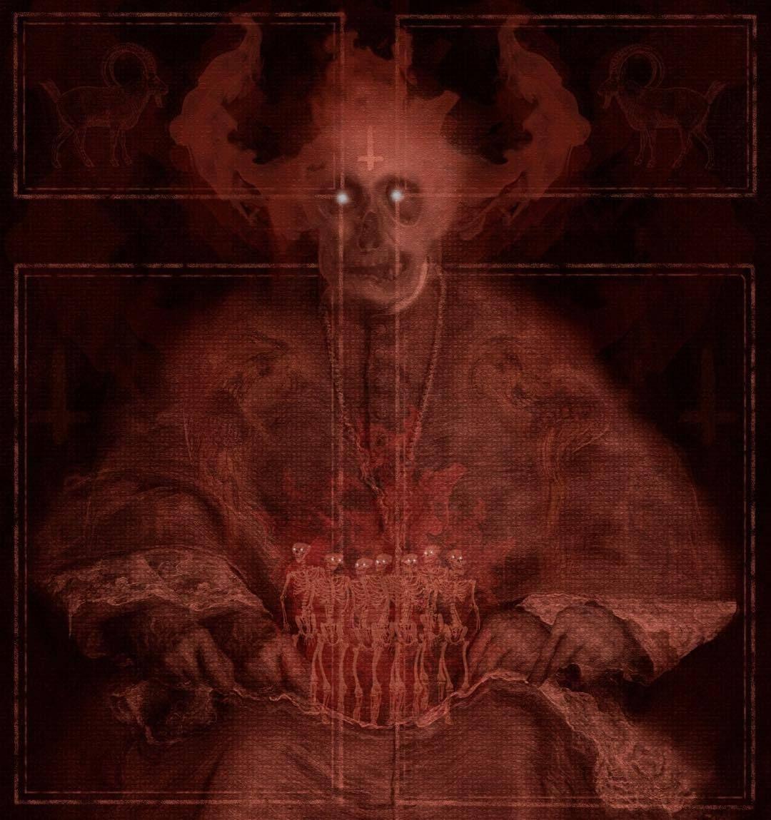 #illustration #weirdart #felipefroeder #skeletons #demonic #e #darkart #darksurrealism #surreal