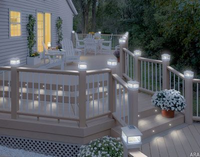 Perfect For Deck Stairs And Walkways Deckorators Low Voltage Recessed Led Lights Outdoor