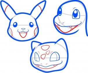 Pokemon Characters How To Draw Pokemon Easy Pokemon Drawings Pokemon Faces Easy Drawings
