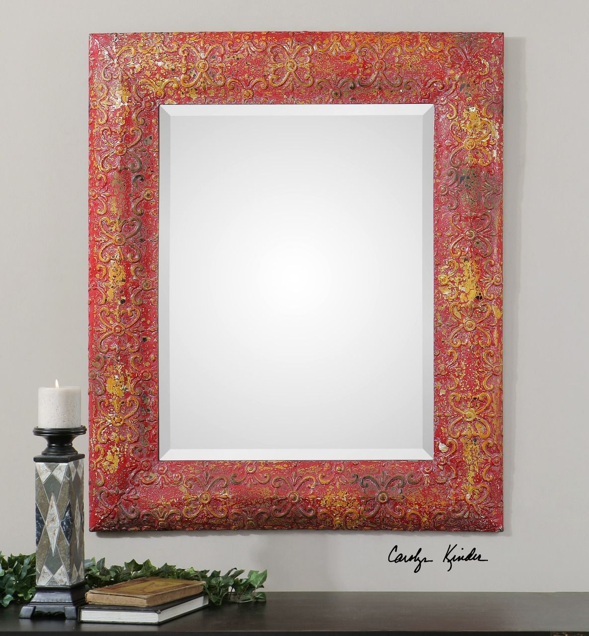 Red Framed Wall Mirrors | http://drrw.us | Pinterest | Mirror ...