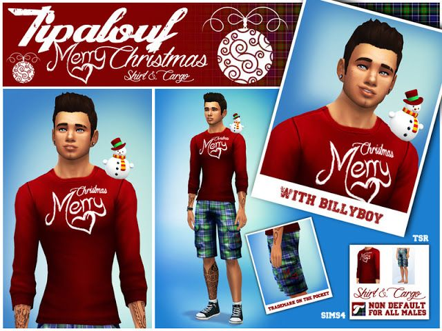 Sims 4 CC's - The Best: Merry Christmas Set by Tipalouf