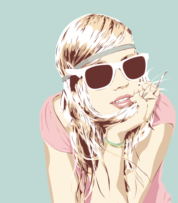 Мультяшные девушки блондинки картинки без лица