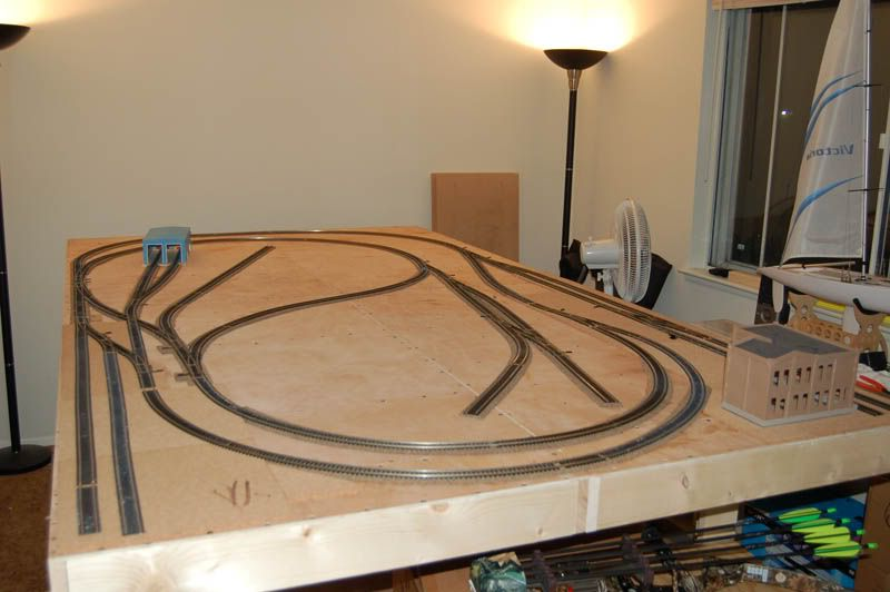 first model train layout