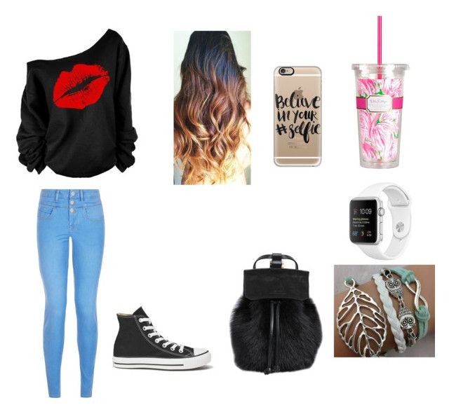 """""""Sin título #65"""" by tatis26 ❤ liked on Polyvore featuring Casetify, Lilly Pulitzer, DESA 1972, New Look and Converse"""
