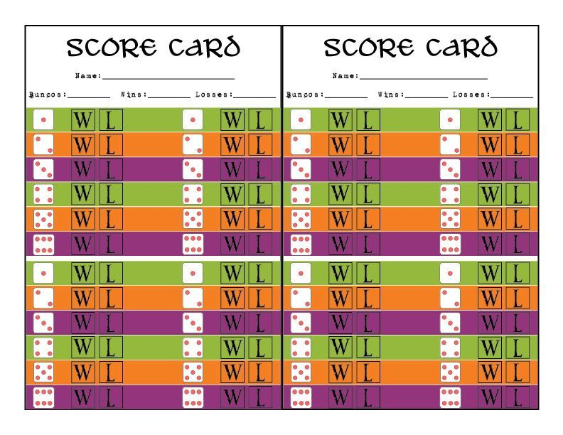 Halloween Bunco Printables ( for Debbie ) ) Halloween \ Fall - bunco score sheets template
