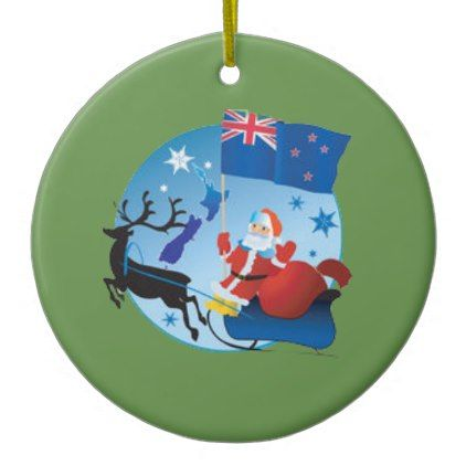 New Zealand Christmas Ceramic Ornament Zazzle Com Ornaments Christmas Christmas Ornaments