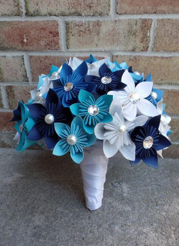 Custom Origami Kusudama Flower Bride Bridesmaid by QueenBeeBridal ...