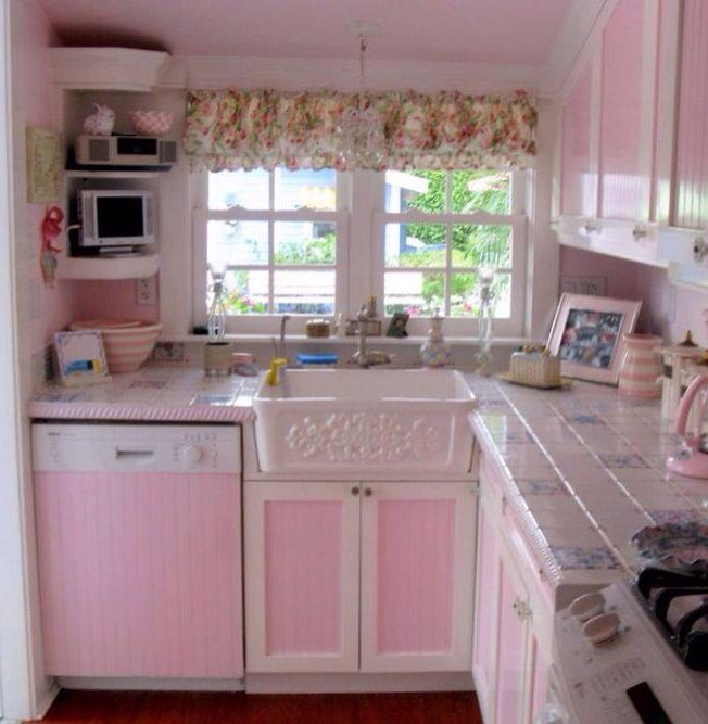 pink kitchen color decor pink decorating colorful kitchen decor shabby chic kitchen shabby on kitchen decor pink id=53204