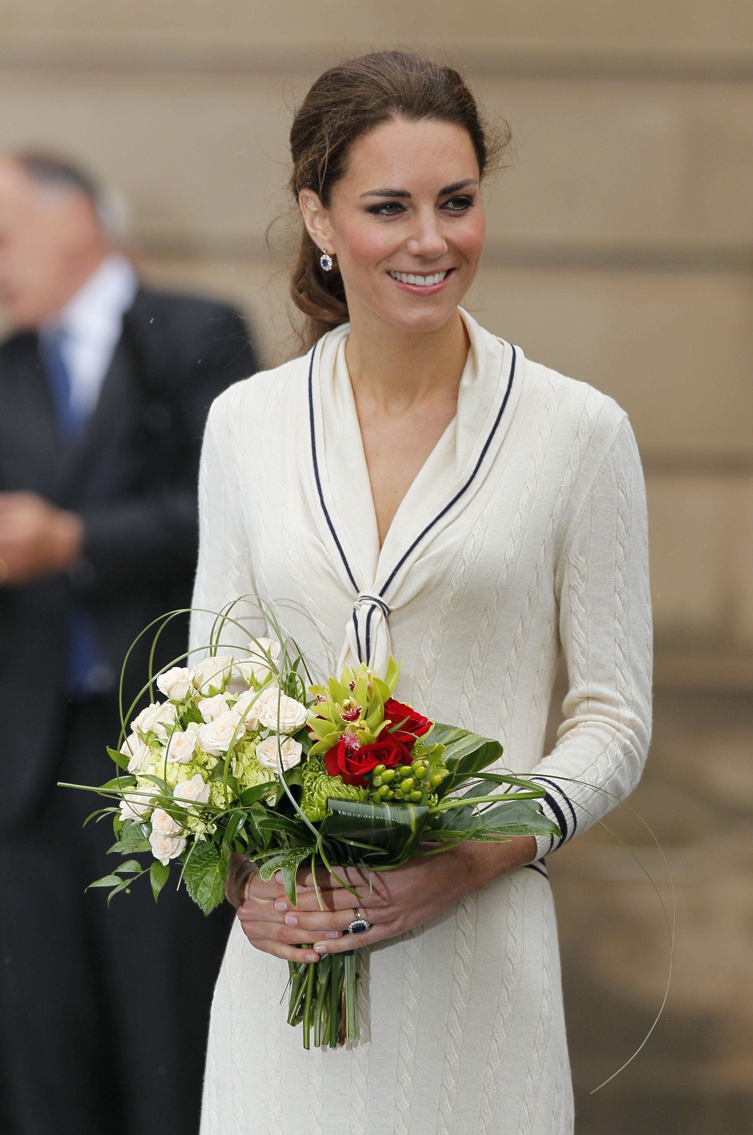 the Duchess of Cambridge's McQueen sweater dress.