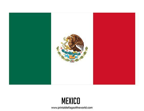 Free Printable Mexico Flag Download Pdf Printable Country Flags