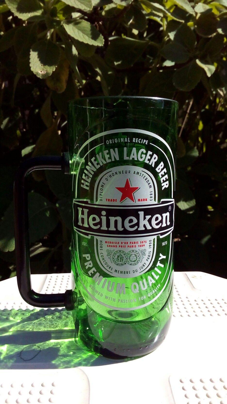 Caneca de garrafa de 600 ml. #Heineken #fundosdegarrafa