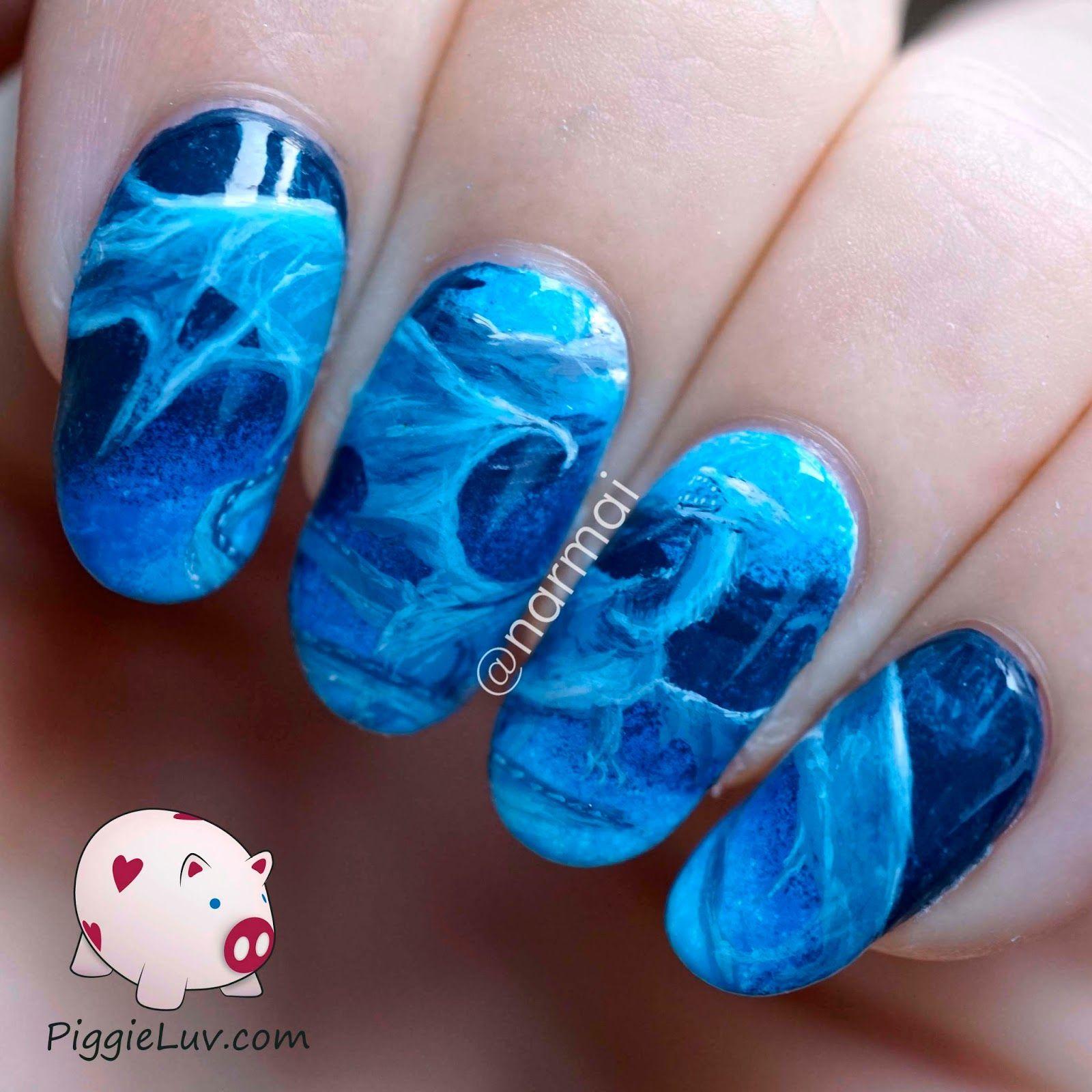 Blue water dragon nail art water dragon dragons and dragon nails blue water dragon nail art prinsesfo Images