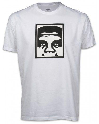 Obey Half Face Herren T-Shirt weiß