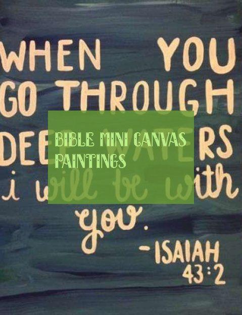 Bible mini canvas paintings