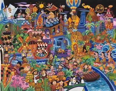 世界真細小 (It's a Small World!) | Disney paintings. Disney art. Disneyland photos