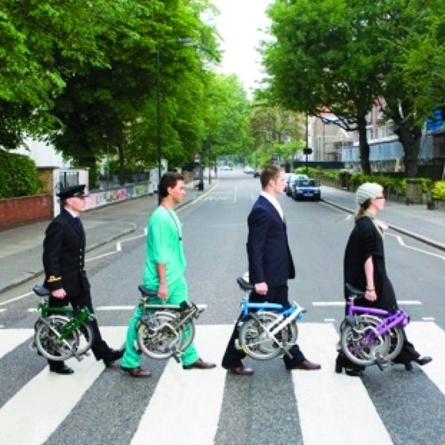 Abbey road brommies | Brompton, Bicycle, Abbey road