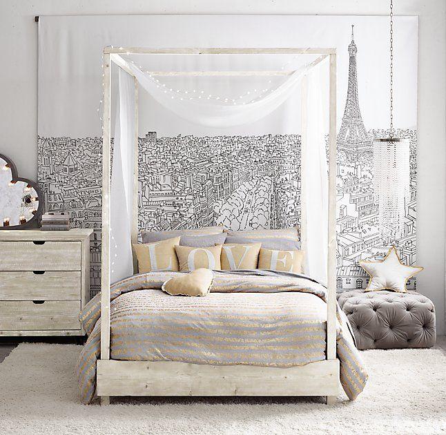 Callum Platform Canopy Bed Platform Canopy Bed Teenage Girl