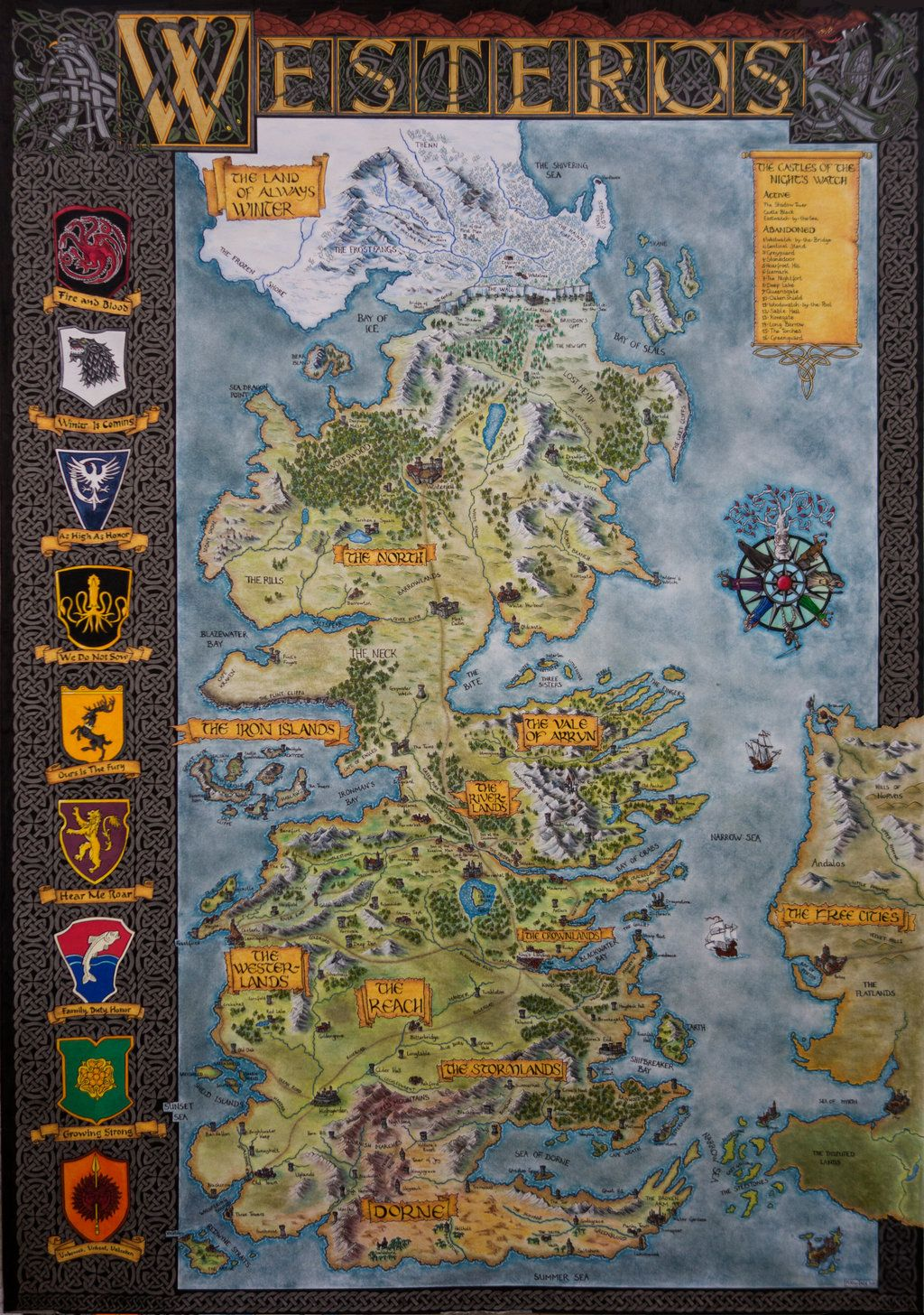 Game Of Thrones Entire Map World on map of westeros map, entire world of warcraft map, entire united states map, new official westeros map,