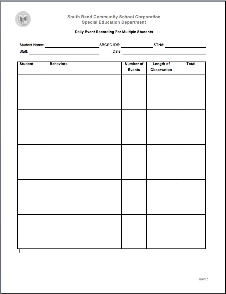 IEP Forms | BA | Special education, Student behavior, Education