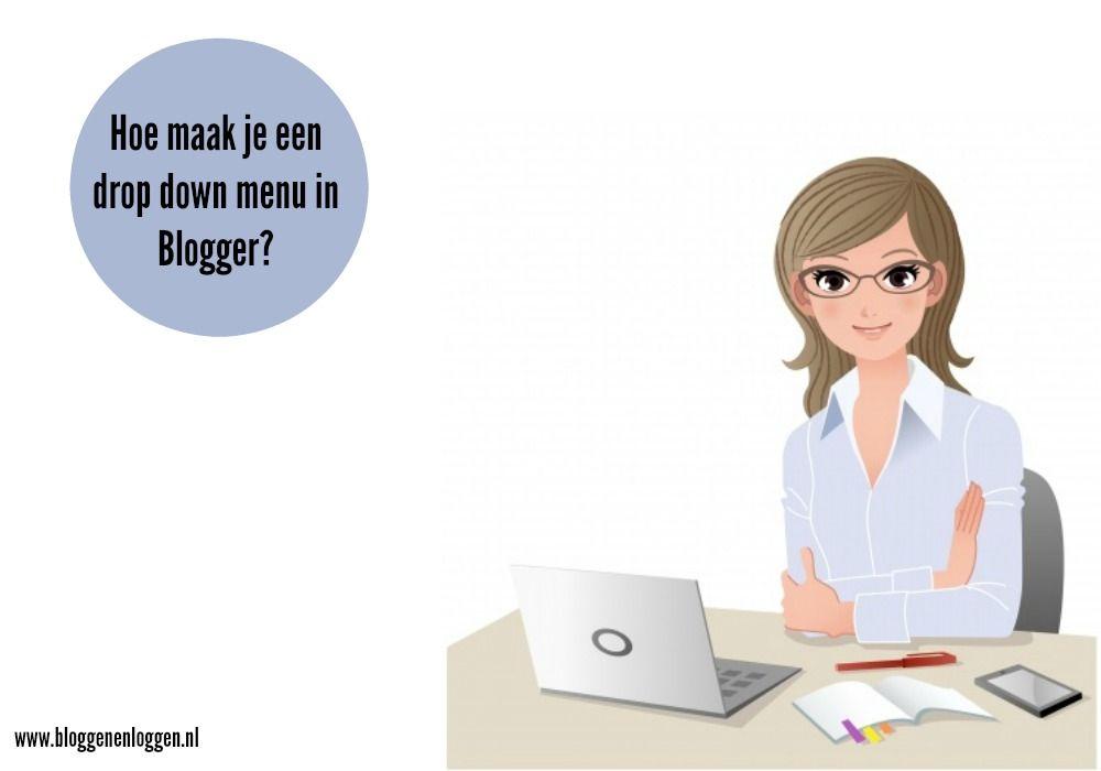 drop down menu blogger