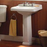 Portsmouth 24 3 Ceramic 25 Pedestal Bathroom Sink With Overflow