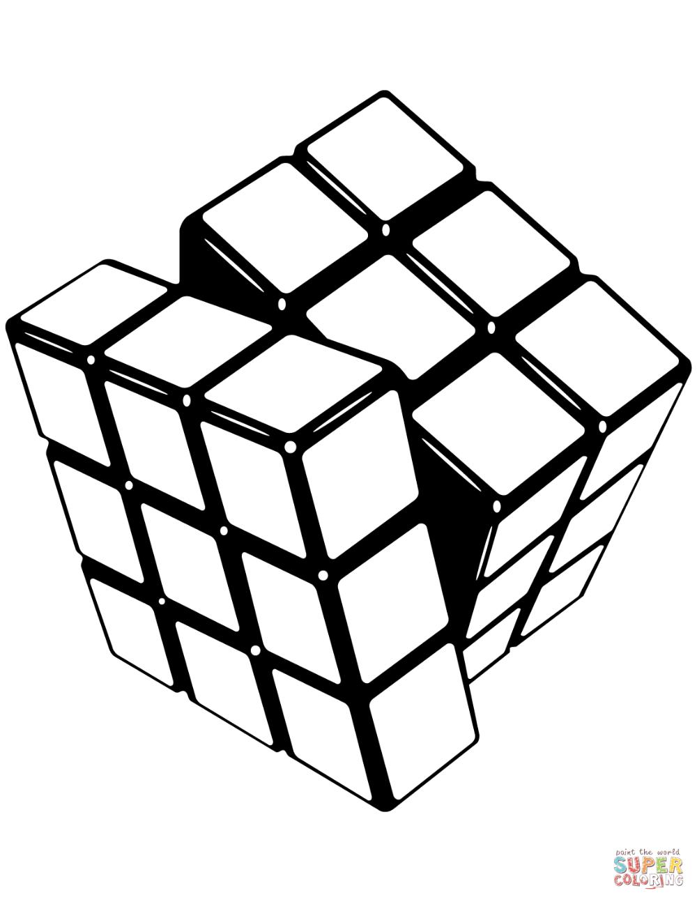 Cubo De Rubik Super Coloring Cubo Rubik Rubik Cubos