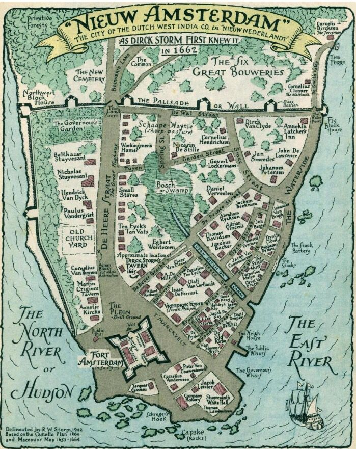 new amsterdam to new york the New netherland to new york  northwest of new amsterdam, new netherland approached feudal conditions with the awarding of large tracts of.