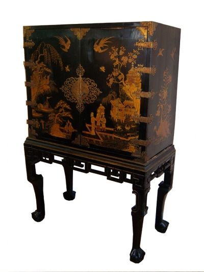 Magnificent Chinoiserie Cabinet on Baroque Stand · Bar CabinetsAntique  FurnitureChinoiserieBaroqueChinese ... - Magnificent Chinoiserie Cabinet On Baroque Stand Chinoiserie