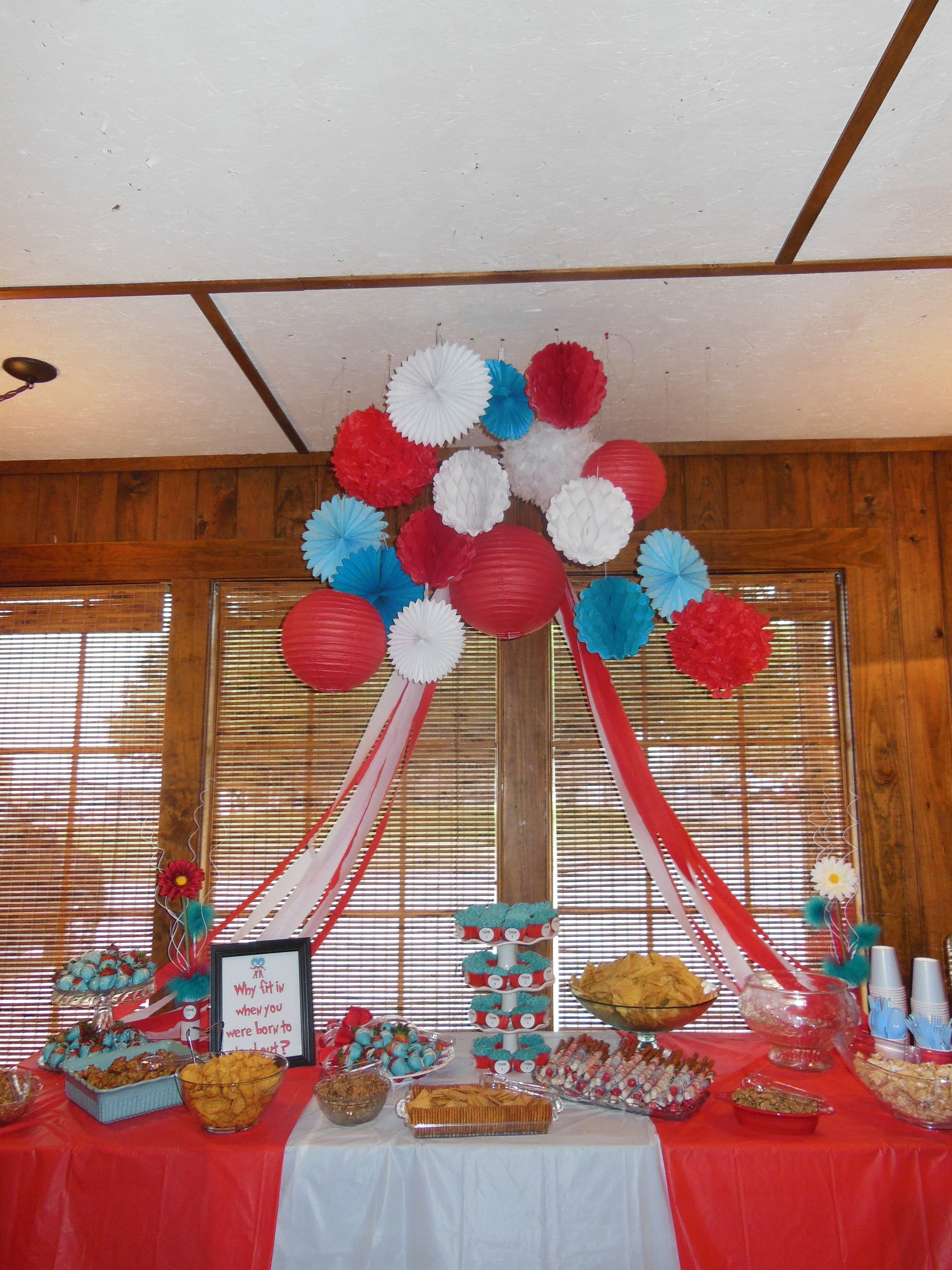 Thing 1 And Thing 2 Baby Shower Twins Baby Shower Twin Boys Baby Shower