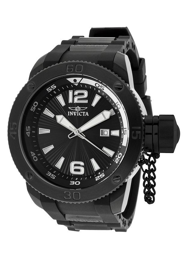 Invicta Watches Men's I-Force Black Polyurethane and Dial Black IP SS 12966,    #Invicta,    #12966,    #Diver