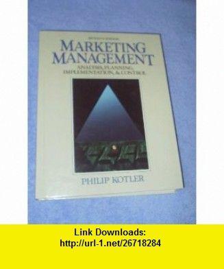 Marketing management analysis planning implementation and control marketing management analysis planning implementation and control 9780135524800 philip kotler fandeluxe Images