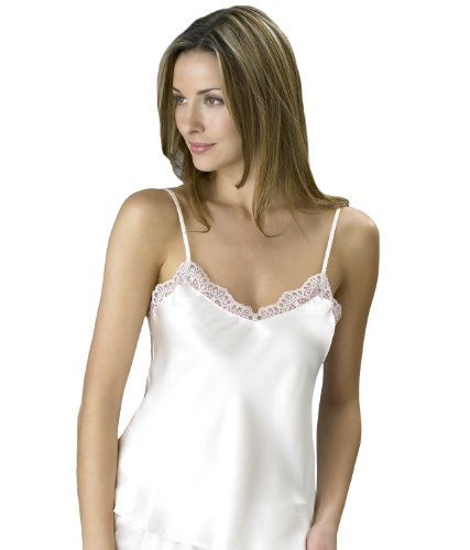 683ecdbf0c Julianna Rae Womens 100 Silk Camisole Top Adjustable Strap Layering Piece  Alabaster XL   You can get additional details at the image link.