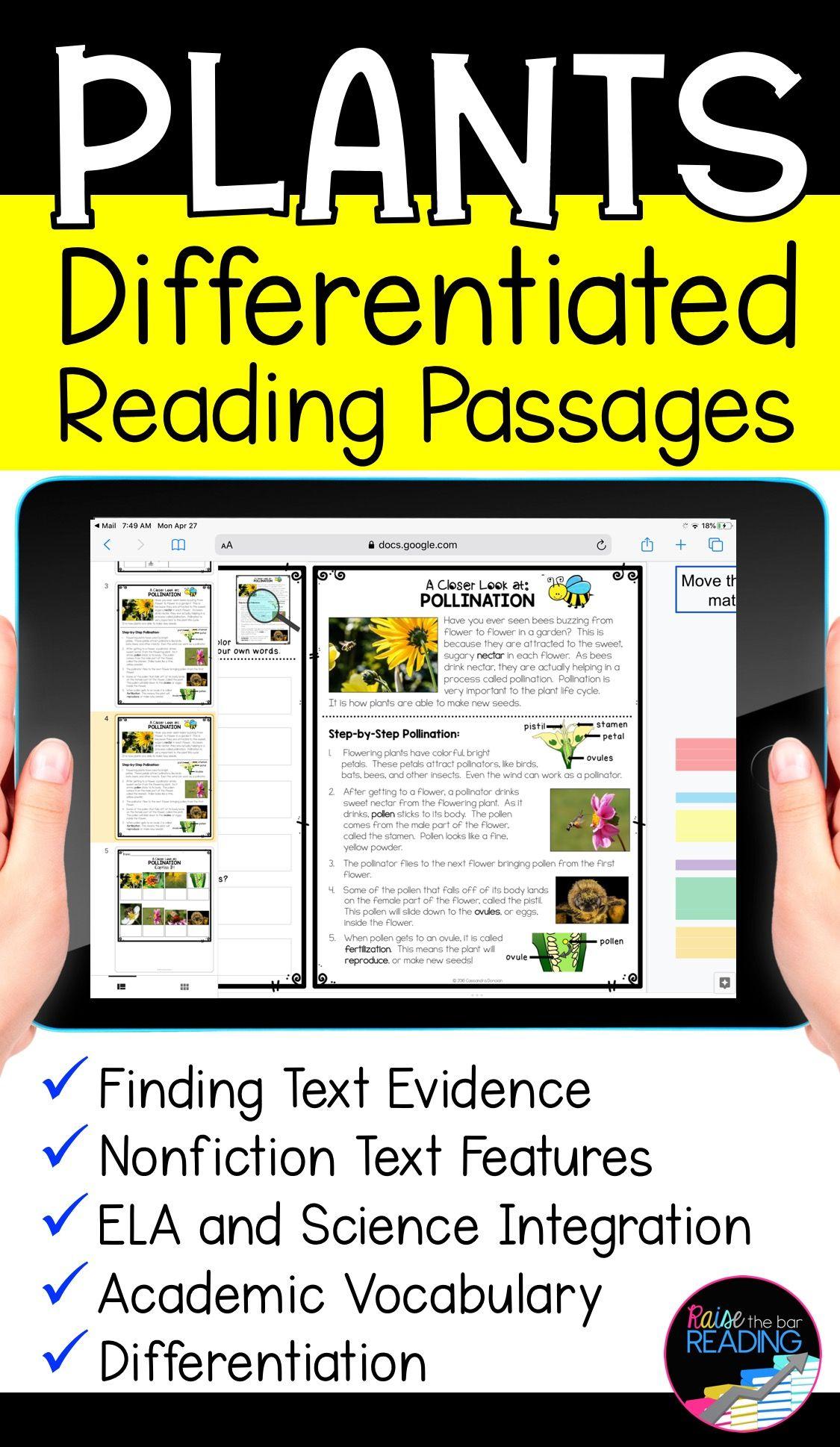 Plants Digital Reading Passages Reading Comprehension Passages Reading Passages Differentiated Reading Passages [ 1938 x 1125 Pixel ]