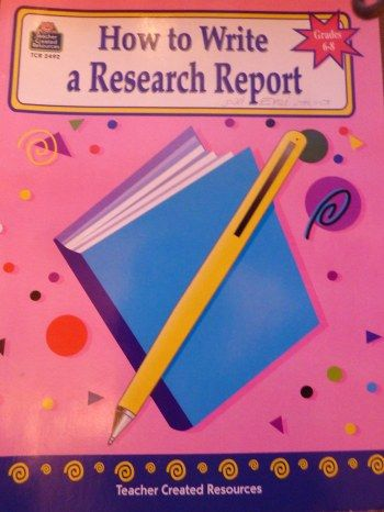 how to write a report middle school