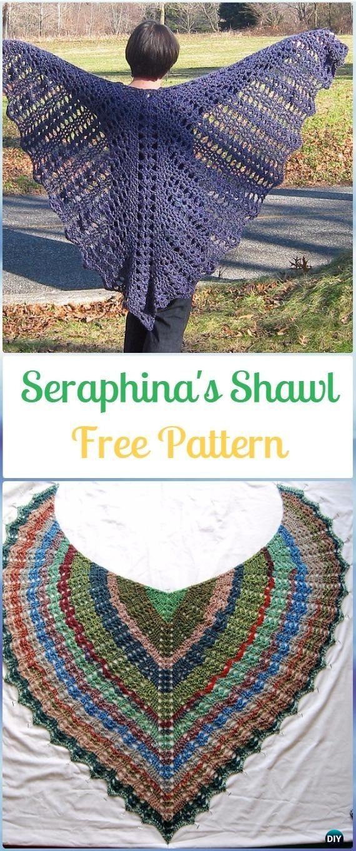 10 Crochet Women Shawl Outwear Free Patterns   Chal, Ponchos y ...