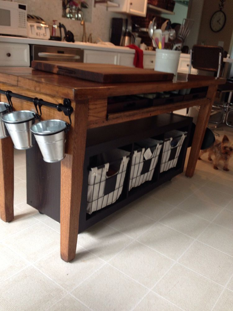 Old Library Table Beat Up To Kitchen Island Homemade Kitchen