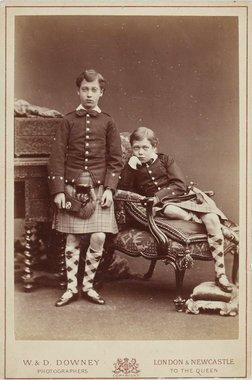 Tsarevich Nicholas with Prince Edward.