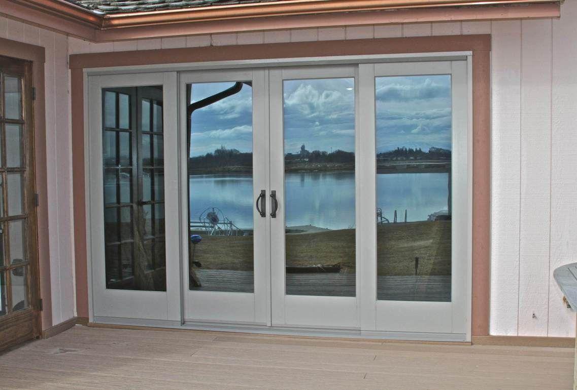 96 wide sliding patio door french