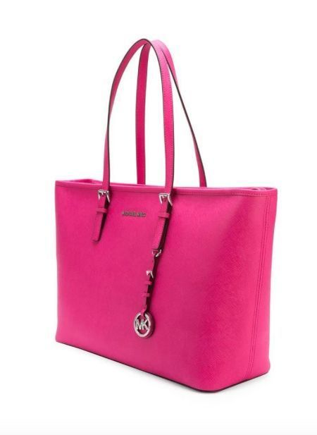 a8a15c2d0 Discount Designer · NWT NEW MICHAEL KORS Jet Set Travel Saffiano Medium  Travel Tote RASPBERRY PINK  175 http