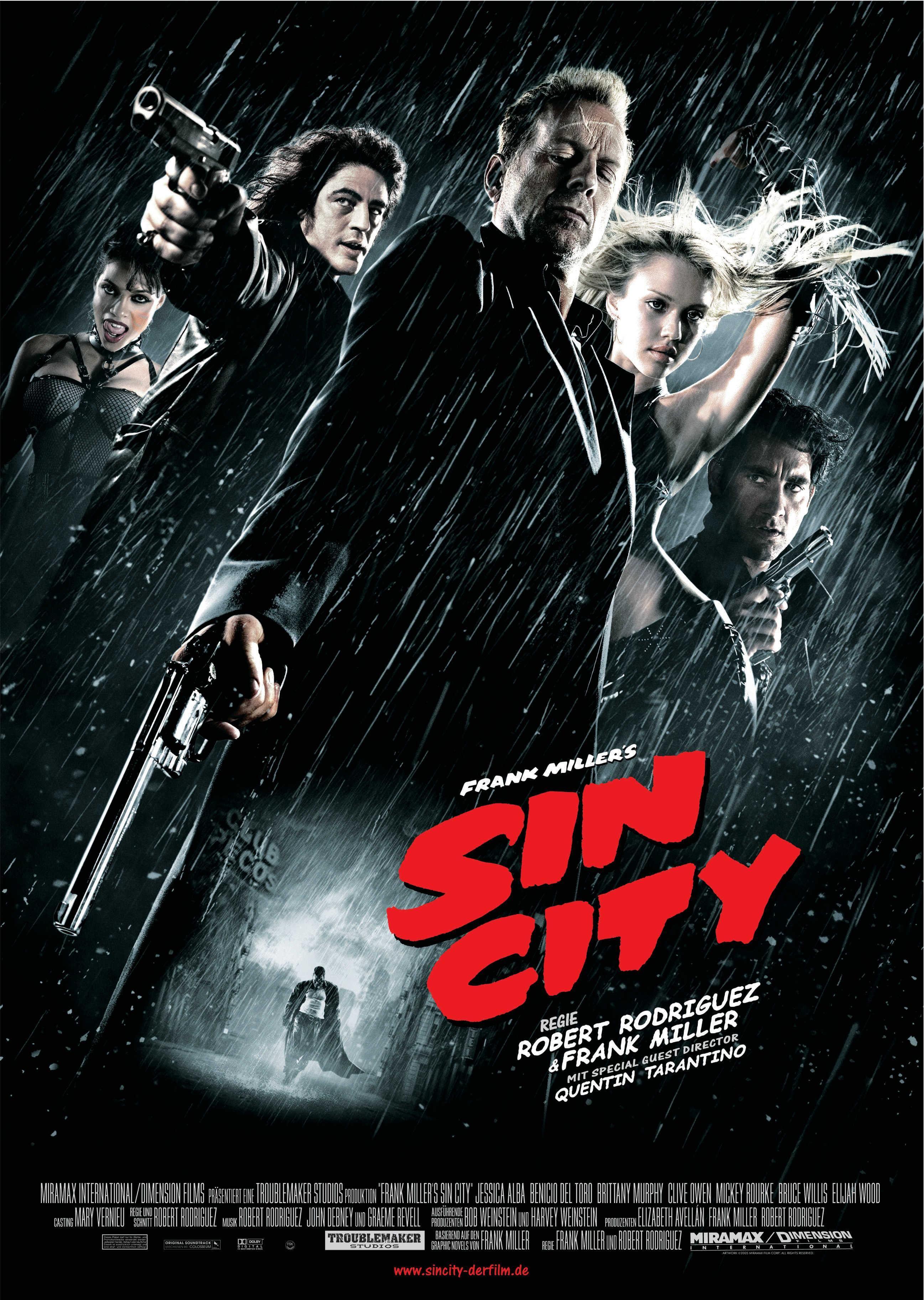 Pin By Jon Wilkinson On Movie Posters Sin City Movie City 2005 Sin City