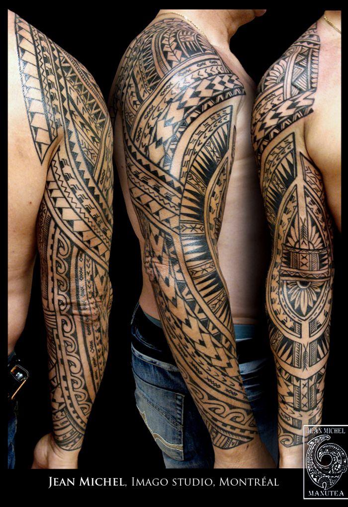 Tattoo Tatouage Full Arm Bras Complet Geometric Shape Design Pattern