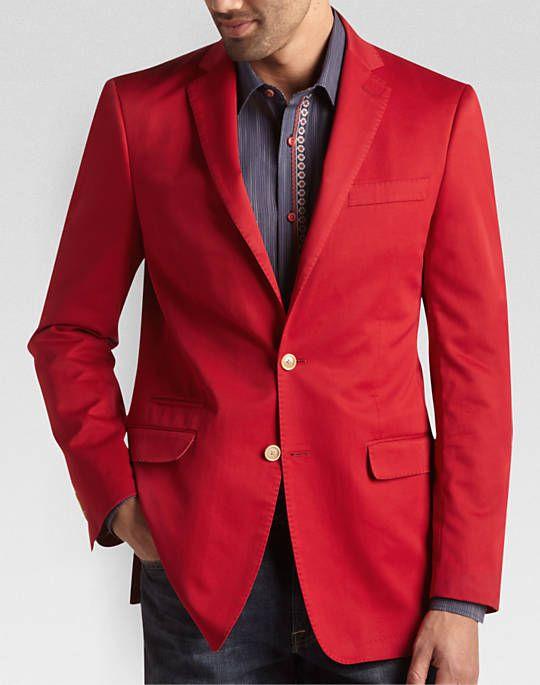 $130 Tallia Red Slim Fit Sport Coat | Men's Wearhouse | Wardrobe ...