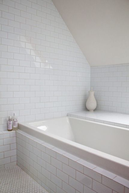 Simple white subway penny tiles also neon back in  big way pinterest tile apartment therapy