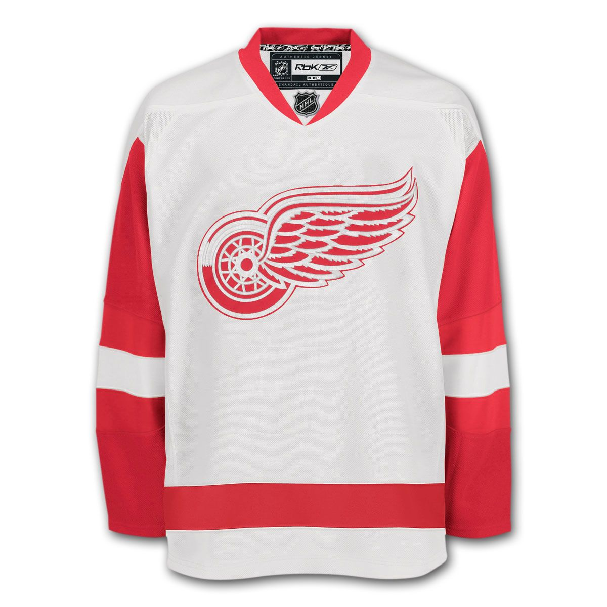 save off 6c087 18726 Detroit Red Wings Reebok EDGE Authentic Road NHL Hockey ...