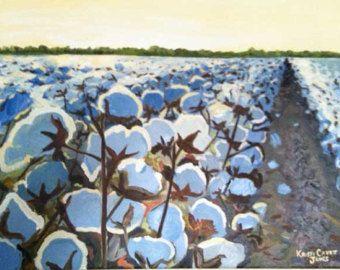 Cotton in the Light, impressionist art PRINT - cotton ...