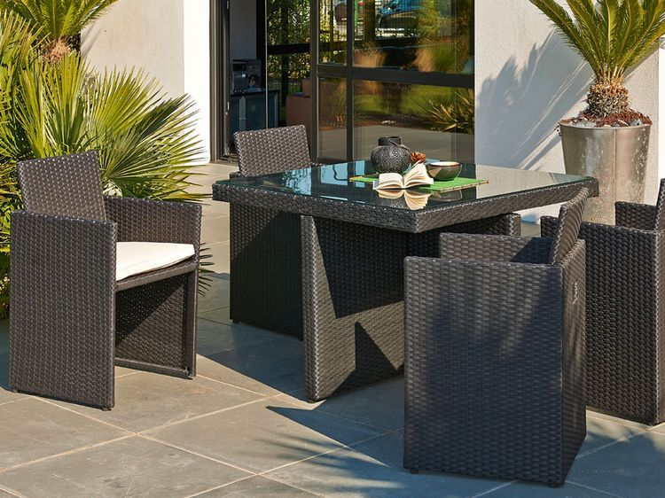 Bon Plan Table De Jardin Le Combi Ideal Agrement De Jardin Salon De Jardin Encastrable Et Chaise Salon De Jardin