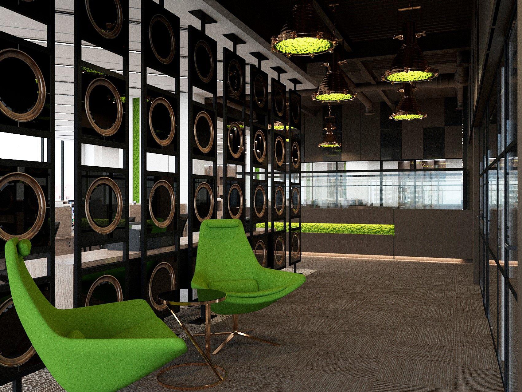зеленый цвет в интерьере, дизайн интерьера, дизайн офиса ...